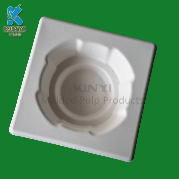 Biodegradable Sugarcane Bagasse Pulp Molded Wine Packaging Trays