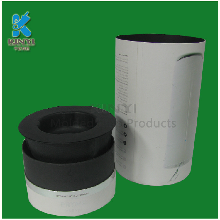 Black Color Biodegradable Water Bottle Packaging Boxes/Trays/Tubes