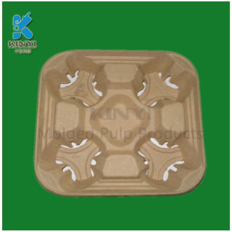 Biodegradable Paper Pulp Coffee/Drink/Tea Cup Trays