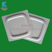 Thermoformed biodegradable mixed pulp packaging tray