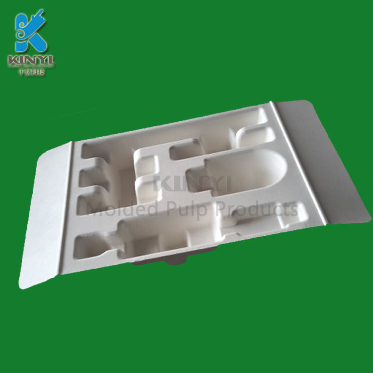 Sanitary electronic packaging tray with packing insert