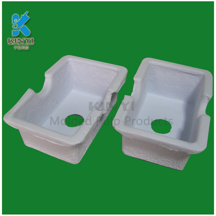 biodegradable molded paper pulp packaging tray