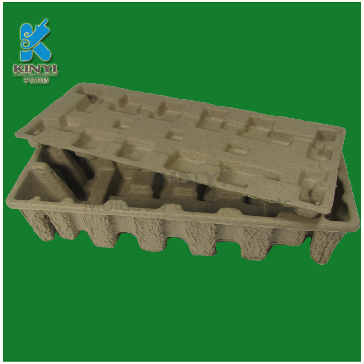 Custom biodegradable brown color molded fiber packaging box