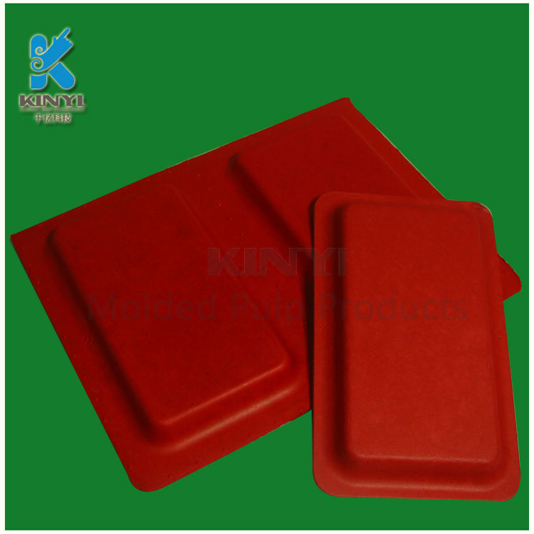 Custom paper pulp mobile phone shell packaging trays