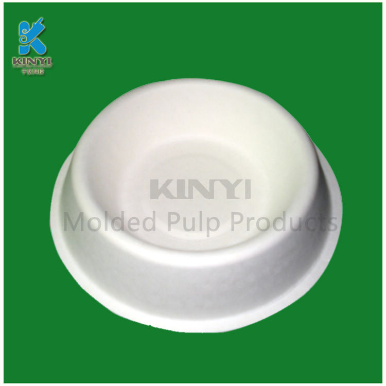 <b>Biodegradable recycled molded fiber paper pulp cat bowls customized</b>