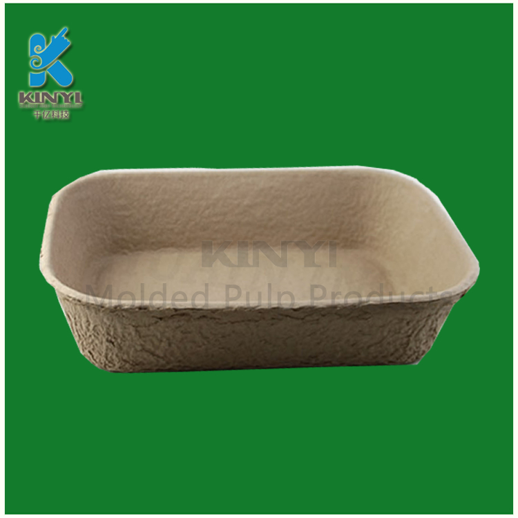 Recycled molded pulp biodegradable cat litter trays custom
