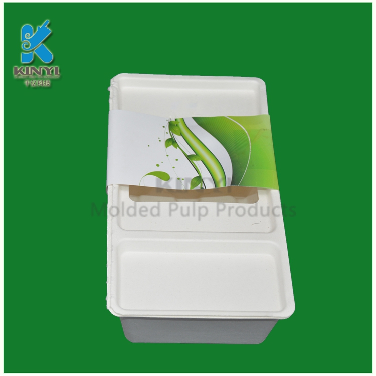 Custom Bagasse Paper Pulp Box with Matching Packaging