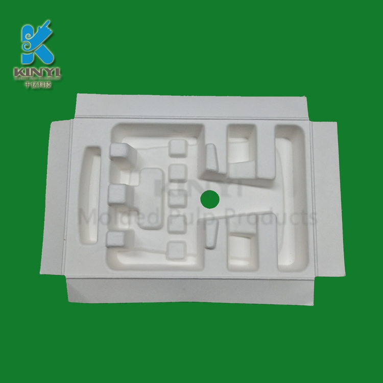 Paper Pulp Molded Biodegradable Packaging Tray