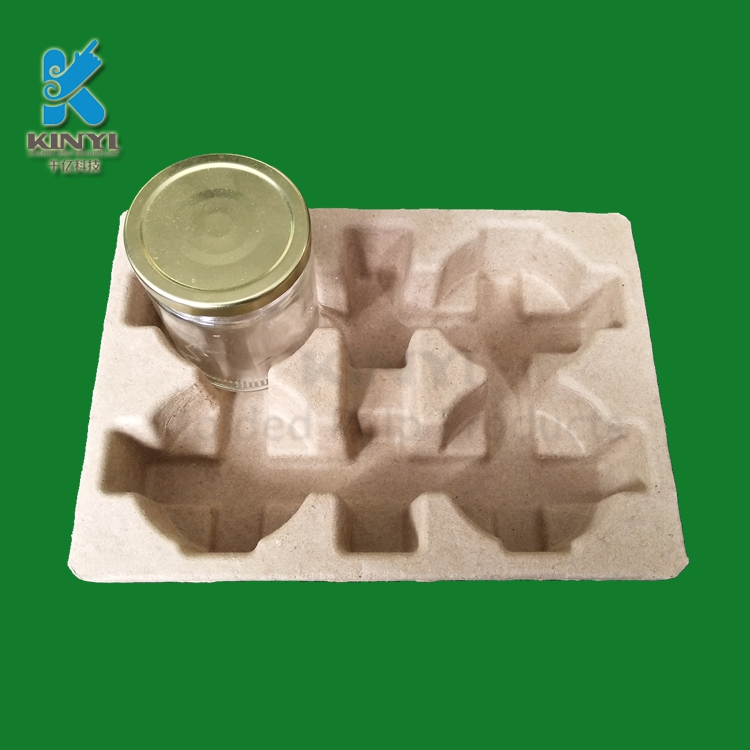 Corrugated Brown Paper Pulp Glass Bottle Tray Protective Packaging