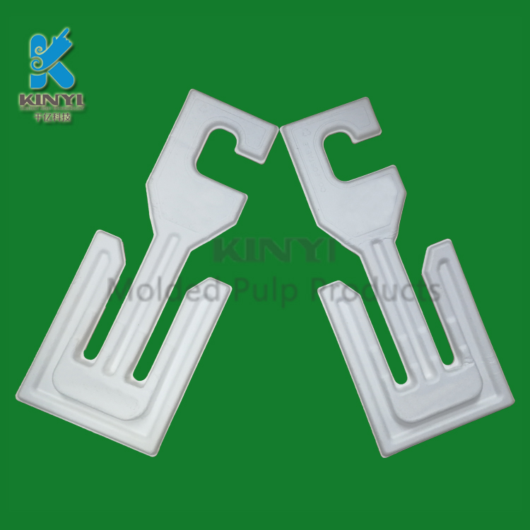 Custom Biodegradable Molded Pulp Paper Clothes Hangers